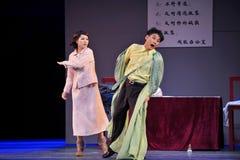 Όντας παλτό slapped-Jiangxi OperaBlue Στοκ Εικόνες