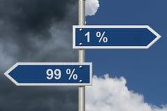 Όντας στο 1% ή το 99% διανυσματική απεικόνιση