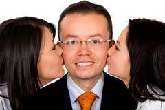 όντας φιλημένο επιχείρηση ά&ta Στοκ Φωτογραφίες