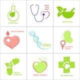 δόντια εικονιδίων καρδιών υγείας προσοχής Στοκ Εικόνες