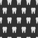δόντι πρότυπο άνευ ραφής Άσπρα δόντια που απομονώνονται στο μαύρο υπόβαθρο gingham λουλουδιών σημείων eps10 συνόρων να γεμίσει βε Στοκ φωτογραφία με δικαίωμα ελεύθερης χρήσης