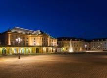 Όπερα-θέατρο de Μετς τη νύχτα Στοκ Φωτογραφία