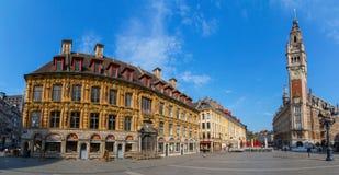 Όπερα και εμπορικό επιμελητήριο στη Λίλλη Γαλλία Στοκ Φωτογραφία