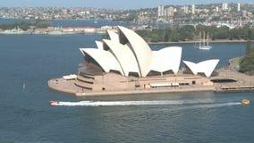 Όπερα και σκάφη του Σίδνεϊ απόθεμα βίντεο