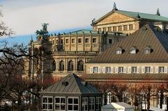 όπερα σπιτιών της Δρέσδης Στοκ φωτογραφία με δικαίωμα ελεύθερης χρήσης