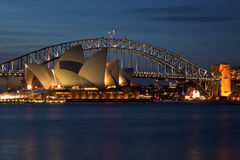 όπερα Σύδνεϋ σπιτιών στοκ εικόνα με δικαίωμα ελεύθερης χρήσης