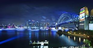 Όπερα της Αυστραλίας λιμενικών γεφυρών του Σίδνεϊ Στοκ Εικόνες