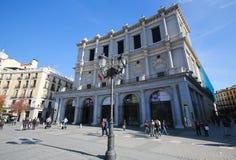 Όπερα της Μαδρίτης ή Teatro πραγματικής Στοκ Φωτογραφία