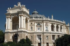 όπερα της Οδησσός σπιτιών Στοκ φωτογραφία με δικαίωμα ελεύθερης χρήσης
