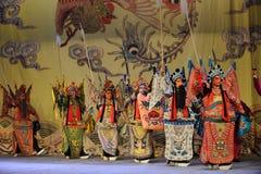 Όπερα του μάχη-Πεκίνου σειρών αναμονής: Αντίο στο concubine μου Στοκ Φωτογραφίες