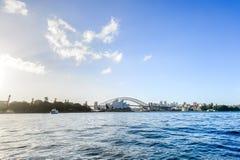 Όπερα του Σίδνεϊ και λιμενική γέφυρα, λιμάνι του Σίδνεϊ Στοκ φωτογραφία με δικαίωμα ελεύθερης χρήσης