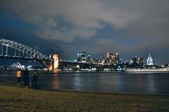 Όπερα του Σίδνεϊ, λιμενική γέφυρα και CBD στοκ φωτογραφία με δικαίωμα ελεύθερης χρήσης