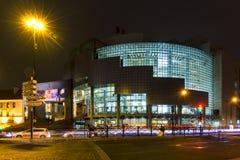 Όπερα Batille τη νύχτα στοκ φωτογραφία