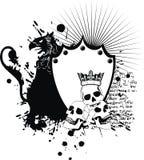 Όπλα των FO παλτών δερματοστιξιών λόφων ασπίδων Herlaldic griffin ελεύθερη απεικόνιση δικαιώματος
