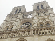 Όποιος ονομάστηκε την ομορφότερη αρχιτεκτονική, Notre Dame de Π Στοκ εικόνα με δικαίωμα ελεύθερης χρήσης