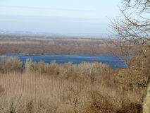 Όπου ο Δούναβης φιλά τον ουρανό Στοκ φωτογραφία με δικαίωμα ελεύθερης χρήσης