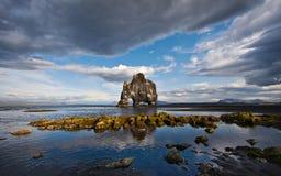 Όπως τον ελέφαντα στην πέτρα στην παραλία Στοκ Εικόνες