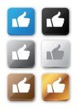 Όπως το σύνολο εικονιδίων κουμπιών Στοκ εικόνες με δικαίωμα ελεύθερης χρήσης