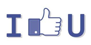 Όπως Facebook Στοκ Εικόνες