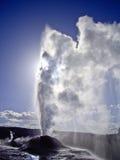 όπως geyser χτυπημάτων διεξόδους ατμού λιονταριών Στοκ Φωτογραφίες