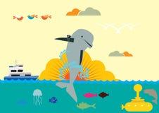 Όπλο δελφινιών Στοκ φωτογραφία με δικαίωμα ελεύθερης χρήσης