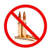 Όπλο που επιτρέπεται κανένα Στοκ φωτογραφία με δικαίωμα ελεύθερης χρήσης