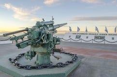 Όπλο στο μνημείο των Νησιών Φόλκλαντ στην πόλη του Rio Grande Στοκ φωτογραφίες με δικαίωμα ελεύθερης χρήσης