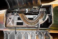 Όπλο στο πολεμικό αεροσκάφος Στοκ εικόνα με δικαίωμα ελεύθερης χρήσης