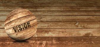Όραμα που εγγράφεται στην ξύλινη σφαίρα Στοκ εικόνες με δικαίωμα ελεύθερης χρήσης
