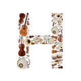 όργανα αλφάβητου μουσικά Στοκ εικόνες με δικαίωμα ελεύθερης χρήσης