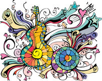όργανα εικόνας μουσικά Στοκ φωτογραφία με δικαίωμα ελεύθερης χρήσης