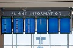 Όργανα ελέγχου πληροφοριών πτήσης στον αερολιμένα της Ατλάντας Στοκ φωτογραφίες με δικαίωμα ελεύθερης χρήσης