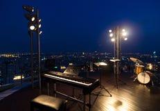 Όργανα ζωνών μουσικής στη τοπ άποψη της εικονικής παράστασης πόλης, Μπανγκόκ, thaila Στοκ Φωτογραφίες