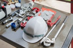 Όργανα μέτρησης μανόμετρων για τα κλιματιστικά μηχανήματα, gaug Στοκ Φωτογραφία