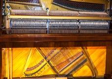 όργανα μουσικά Η εσωτερική δομή ενός πιάνου Στοκ Εικόνες