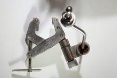 Όργανα που χρησιμοποιούνται ιατρικά στη νευροχειρουργική Ιατρικά όργανα για το trepanation του κρανίου Στοκ Εικόνα