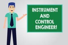 Όργανο γραψίματος κειμένων γραφής και μηχανικός ελέγχου Έννοια που σημαίνει το βιομηχανικό άτομο εξοπλισμού εφαρμοσμένης μηχανική διανυσματική απεικόνιση