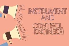 Όργανο γραψίματος κειμένων γραφής και μηχανικός ελέγχου Έννοια που σημαίνει το βιομηχανικό εξοπλισμό δύο HU εφαρμοσμένης μηχανική ελεύθερη απεικόνιση δικαιώματος