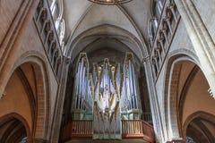 Όργανο εκκλησιών του καθεδρικού ναού του ST Peter στη Γενεύη Στοκ φωτογραφία με δικαίωμα ελεύθερης χρήσης