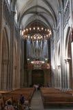 Όργανο εκκλησιών του καθεδρικού ναού του ST Peter στη Γενεύη Στοκ Εικόνα