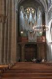 Όργανο εκκλησιών του καθεδρικού ναού του ST Peter στη Γενεύη Στοκ Φωτογραφία