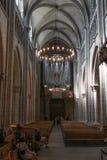 Όργανο εκκλησιών του καθεδρικού ναού του ST Peter στη Γενεύη Στοκ Φωτογραφίες