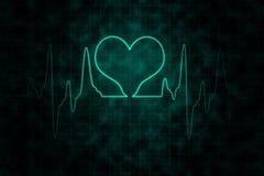 Όργανο ελέγχου κτύπων της καρδιάς στο μαύρο υπόβαθρο απεικόνιση αποθεμάτων