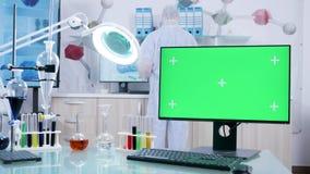 Όργανο ελέγχου με το πράσινο πρότυπο οθόνης στην υψηλή ασφαλή ερευνητική δυνατότητα απόθεμα βίντεο