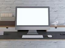 Όργανο ελέγχου προτύπων στον υπολογιστή γραφείου διανυσματική απεικόνιση