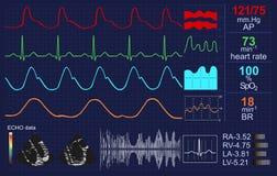 Όργανο ελέγχου κτύπου της καρδιάς διανυσματική απεικόνιση