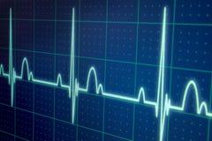 Όργανο ελέγχου ECG/EKG Στοκ Εικόνες