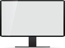 Όργανο ελέγχου TV LCD, διανυσματική απεικόνιση. Στοκ Εικόνα