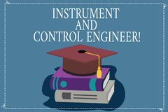 Όργανο κειμένων γραψίματος λέξης και μηχανικός ελέγχου Επιχειρησιακή έννοια για το βιομηχανικό εξοπλισμό εφαρμοσμένης μηχανικής α διανυσματική απεικόνιση