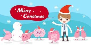 Όργανο με τη Χαρούμενα Χριστούγεννα απεικόνιση αποθεμάτων
